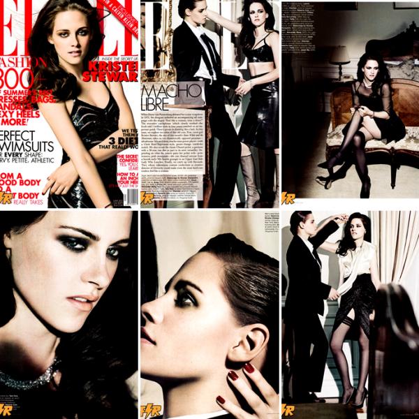 Kristen fait la couverture du magazine Elle (us) pour le mois de juin 2012. She's the man.