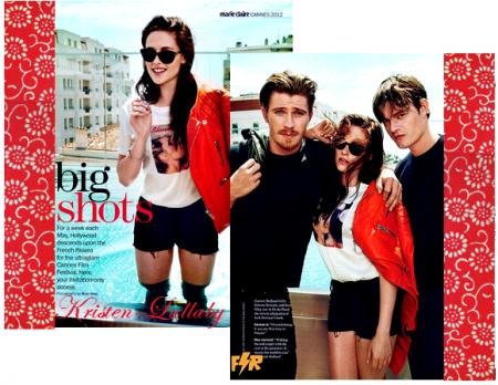 """Les photos pour le magazine """"Marie-Claire"""". (prises au Festival de Cannes)."""