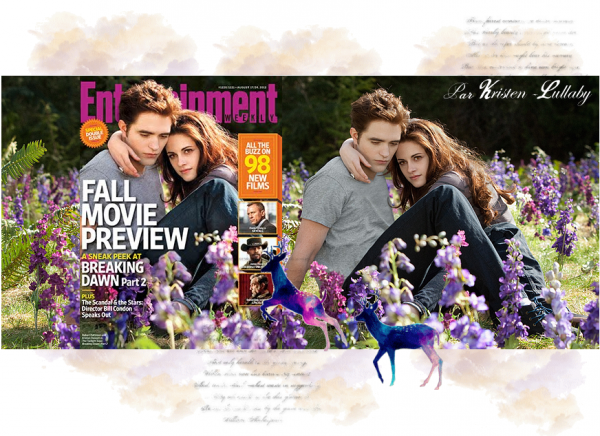"Bella & Edward en couverture du ""Entertainment Weekly"" de aout 2012. & avec de nouveaux stills de Breaking Dawn Part 2."