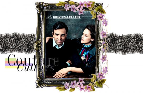 Kristen et Nicolas Ghesquière dans Vogue US de Septembre 2012.