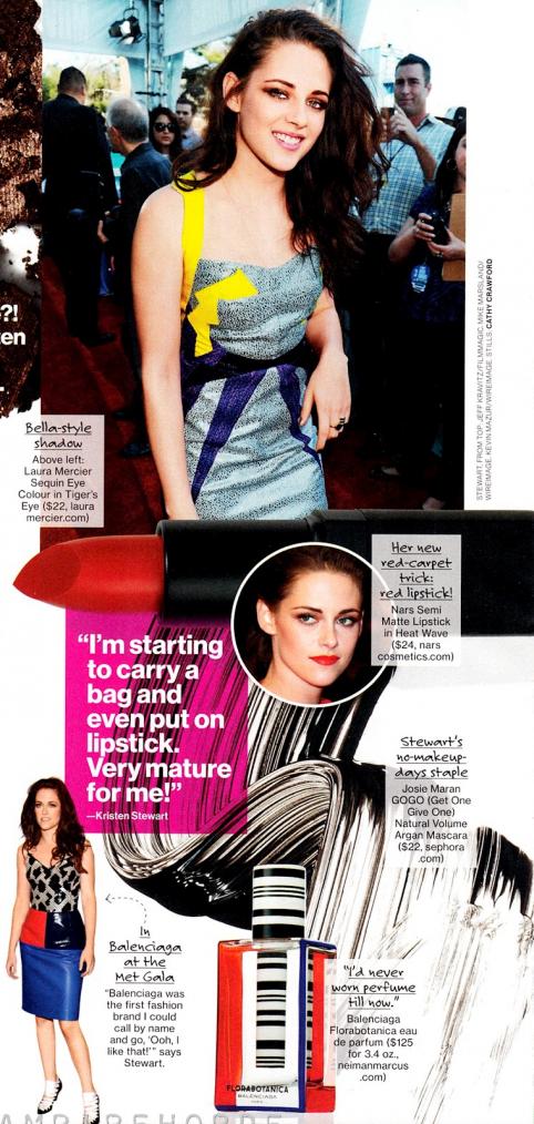 Interview de Kristen pour Glamour (us) d'octobre 2012 :