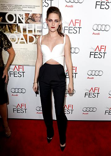 """Samedi 3 Novembre 2012 : Kristen au Festival AFI :  première us de """"Sur la route"""" à Los Angeles :"""