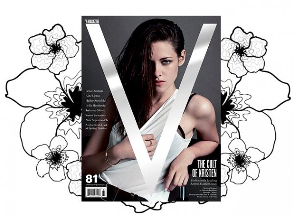 Kristen en couverture de V Magazine :
