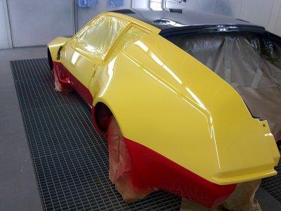 C'est le grand jour!!! L'auto est peinte. Le résultat est magnifique !!!