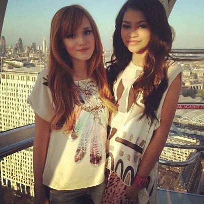 Bella Thorne et Zendaya à Londres !