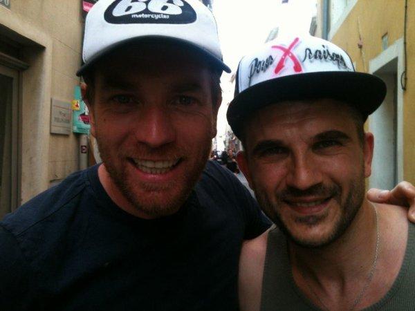 Avec Ewan Mc Gregor & Seb Barrio !!