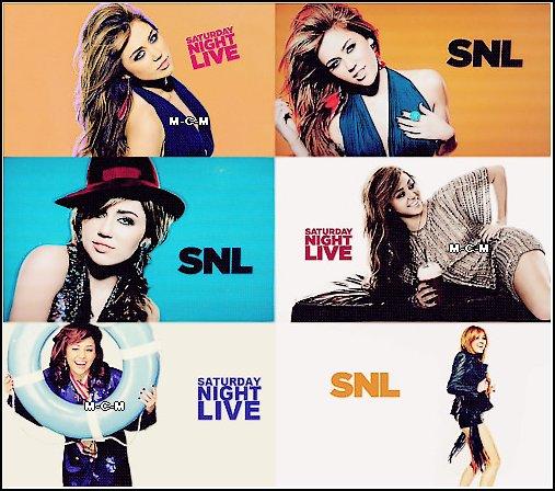 Voici le shoot de Miley pour SNL