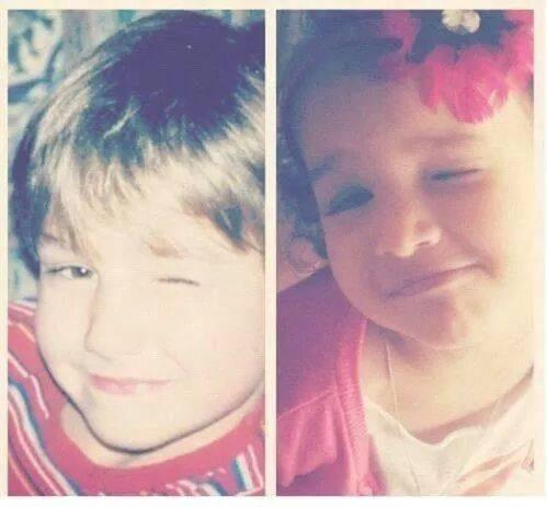 Danielle &Liam quand ils éaient petit