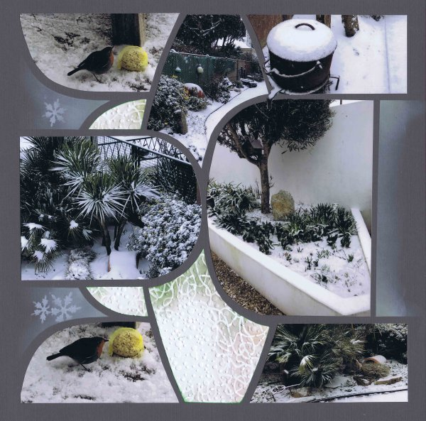 Neige au jardin