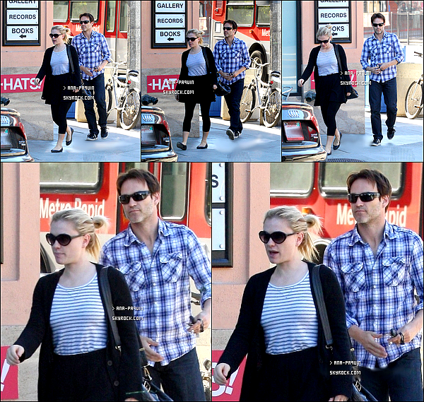 11/02/11 - Anna et Stephen Moyer, son mari , ont été repérés à Beverly Hills.  J'aime ce couple !