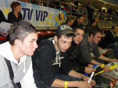 le frere,bubu,moi et jeremy au HTV en V.I.P :)