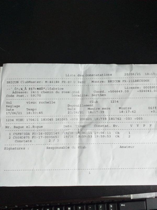 "3éme Fédéral "" ""LA ROCHELLE ""  578 Kms"