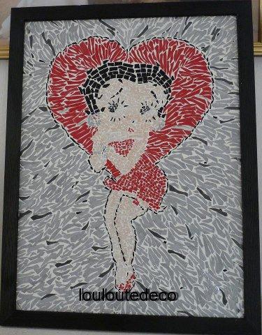 Betty Boop avec son cadre