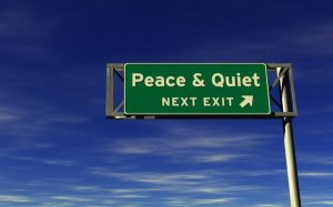 Keep calm and love the quiet peace. Or try to do it...