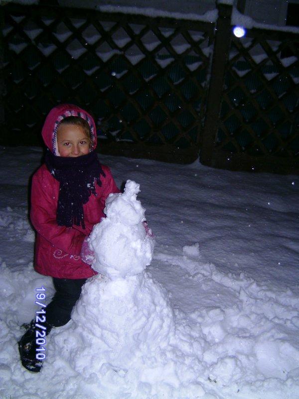 mn bb avc sn bonhomme de neige