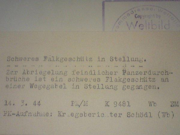 Texte résumant la photographie si dessus en allemands. (derrières de la photographie)