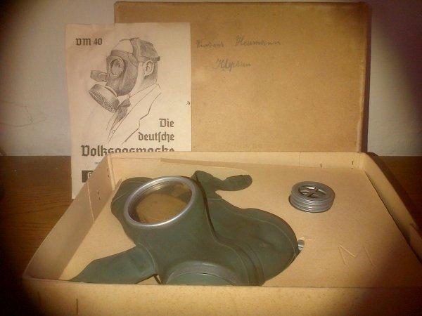 Masque Anti-gaz VM 40,Luftschutz Allemand WW2.