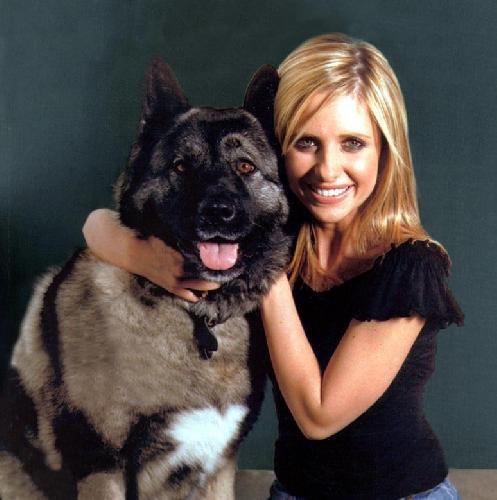 Sarah et son chien <3