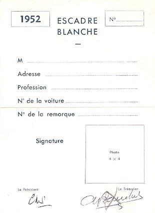 carte de membre vierge Carte de membre de l'Escadre Blanche vierge   Blog de caravane henon