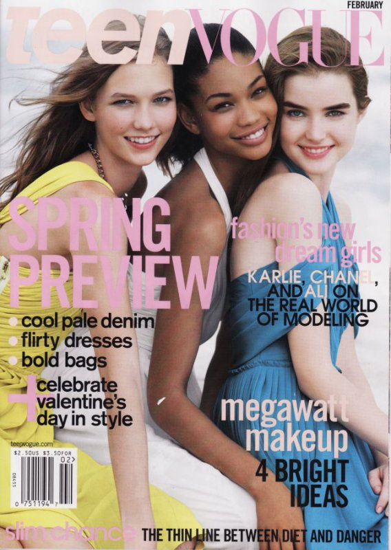 Karlie, Chanel Iman and Ali Michael by Patrick Demarchelier for TeenVogue