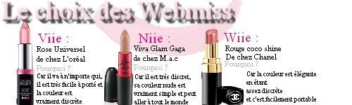 Les rouges à lèvres...