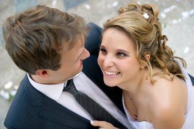 Mariage de mon fiston Yves avec Joëlle.On dirait 2 anges