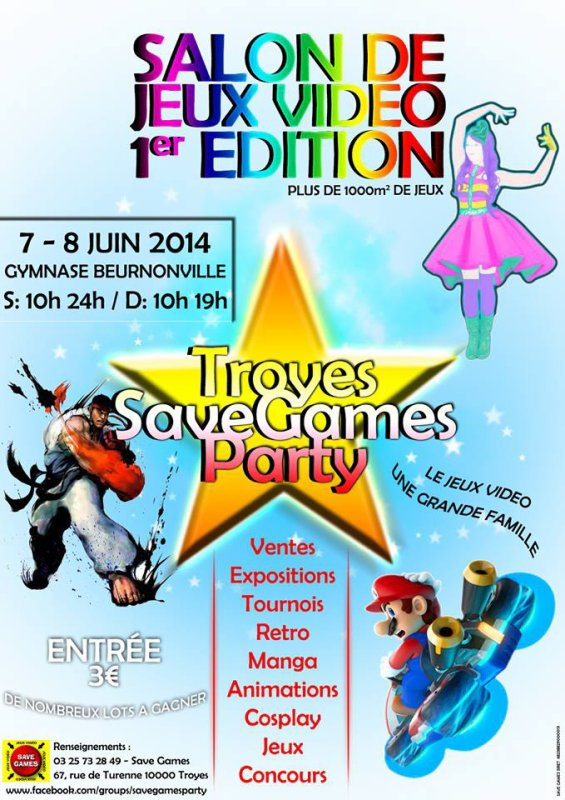 Salon de Jeux vidéo Troyes Save Games Party