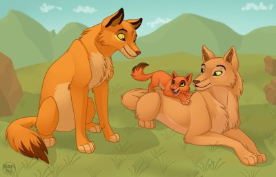 Simba, Nala et kiara (sa change hein) =P