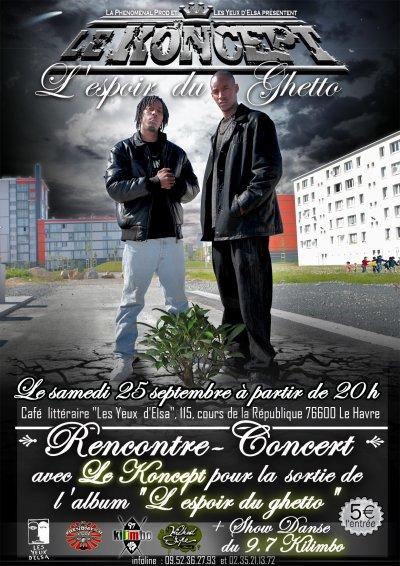 Le KONCEPT en concert le Samedi 25 Septembre