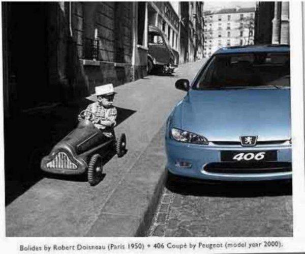 pub Peugeot photo  Robert DOISNEAU