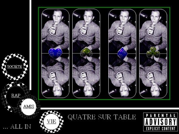 """première ébauche de la pochette du projet """"Quatre sur table"""""""