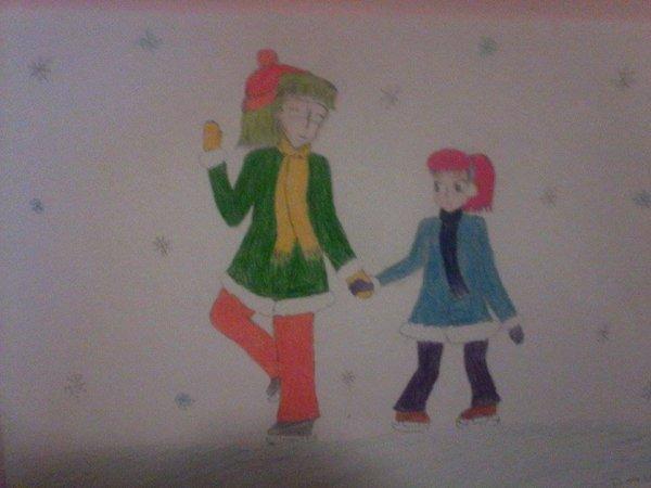 Uma et Kazen font du patin