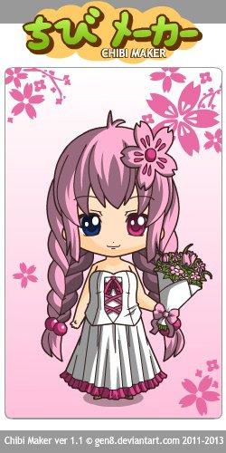 Mémoria avec une nouvelle tenue de rose chibi