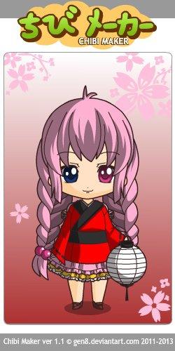 chibi maker mémoria en kimono