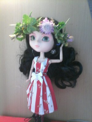 Scéance photo pullip courone de fleur et robe japan sun