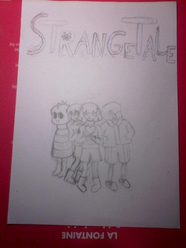 couverture de ma BD Undertale, StrangeTale pas terminer