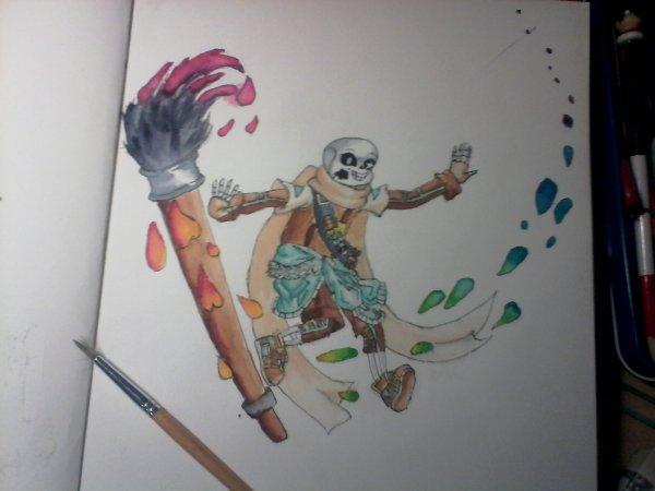 dessin a l'aquarelle undertale