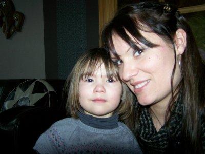 moi et ma fille laly apres quelle a pleurer