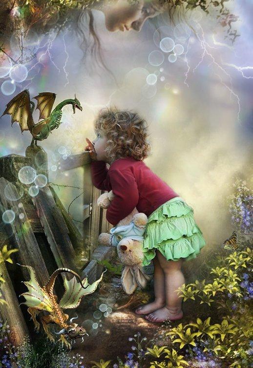 Ton esprit s'émerveille de toutes les beautés du monde. Grandis, ma chérie. Apprends et aime.