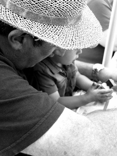 Ethan et son papi.