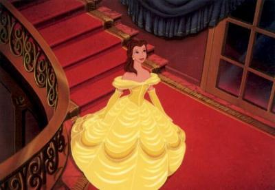 Fantastique Belle et sa merveilleuse robe jaune - Princesses disney lOve JI-16