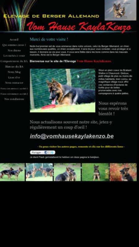Très heureux de vous présenter notre site www.Vom Hause KaylaKenzo.be