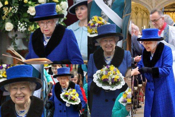 29 mars 2018 : La Reine Élisabeth II a été vus à un service royal à la St. George Chapel