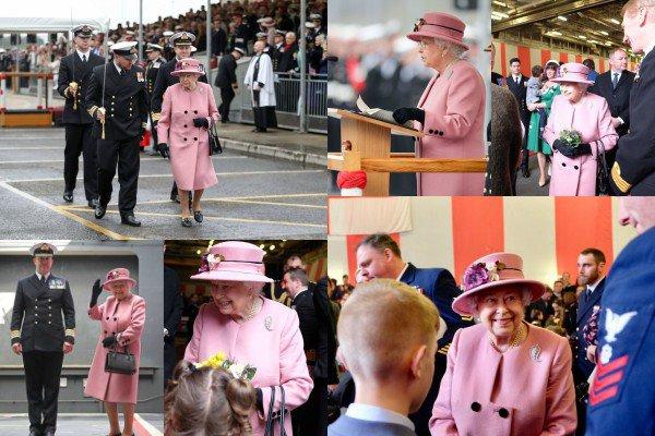 27 mars 2018 : La Reine Élisabeth II a assisté à la cérémonie de retrait du HMS Ocean de la Royal Navy.
