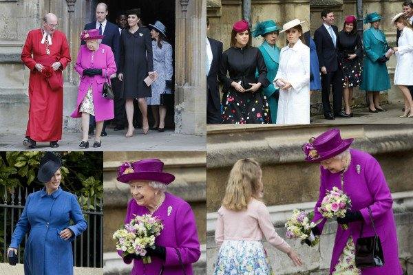 1 avril 2018 : La famille royale a assisté à un service religieux à Windsor