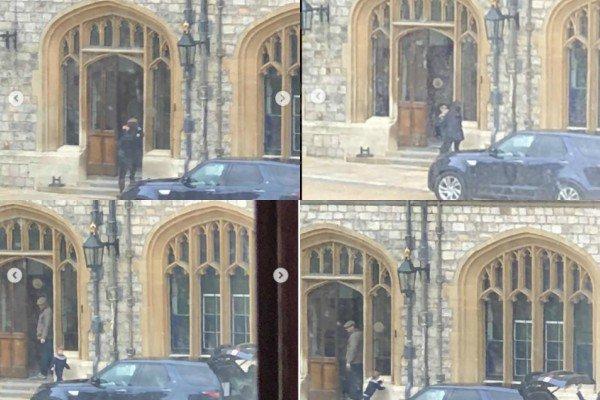 1 avril 2018 : Le Prince George a été aperçu à l'extérieur du château de Windsor