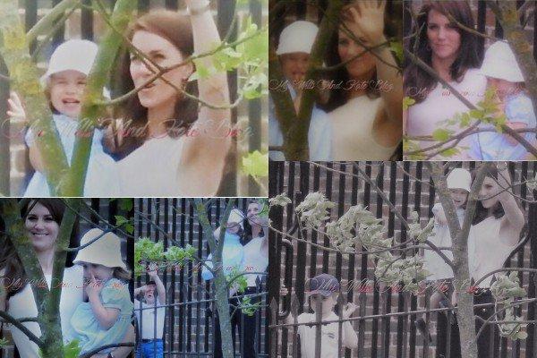 Découvrez des photos de Kate, George et Charlotte dans le Kensington garden durant le mois de juin 2017