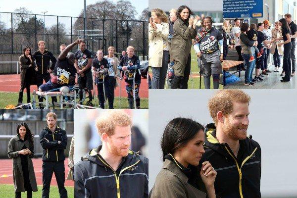 Le 6 avril 2018, le Prince Harry et sa fiancée Meghan Markle ont assisté aux qualifications de l'équipe britannique pour les Invictus games dans la ville de Bath