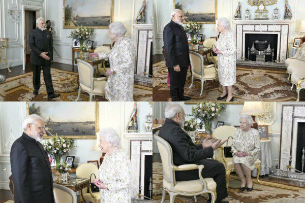 Le 18 avril 2018 : La Reine Elizabeth II a rencontré le Premier Ministre de l'Inde au Buckingham Palace