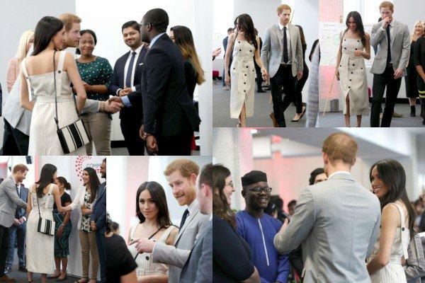 Le 18 avril 2018, Prince Harry et sa fiancée Meghan Markle ont été aperçus alors qu'ils arrivaient à la réception pour le forum des jeunes pendant le Commonwealth Heads of Government Meeting à Londres